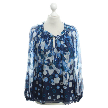 Diane von Furstenberg Silk blouse in blue with pattern