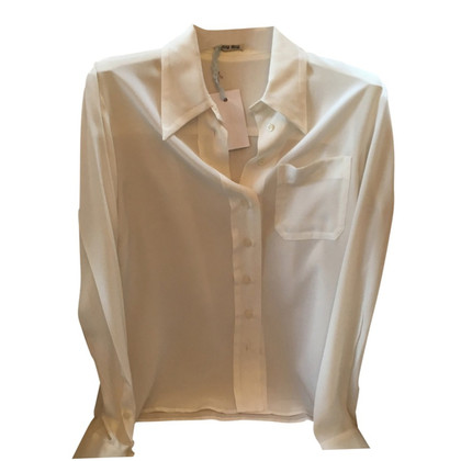 Miu Miu Silk blouse in white