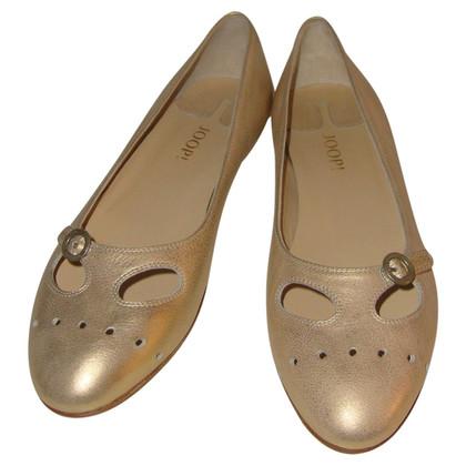 JOOP! Goldfarbene Ballerinas