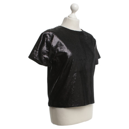 Cos Sequin shell in black