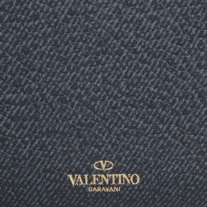"""Valentino """"Wallet Zip Around Continental Blue"""""""