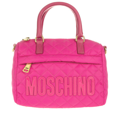 Moschino ' Nylon bowling bag pink '