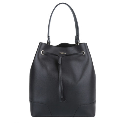 "Furla ""Stacy M DrawString bucket bag Onyx"""