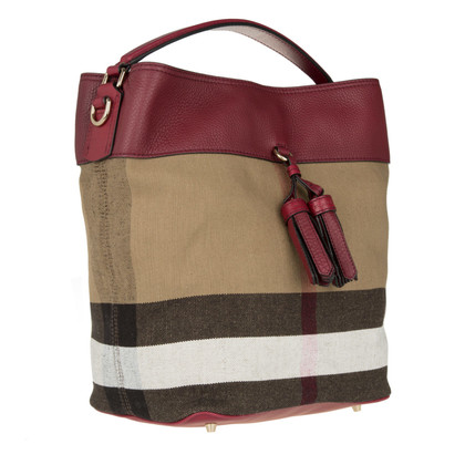 Burberry ' Ashby Medium kwast Hobo Brit verdriet / Bourgogne '