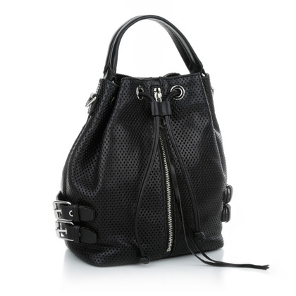 "Rebecca Minkoff ""Perforated Moto bucket bag black"""