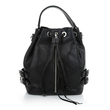 """Rebecca Minkoff """"Geperforeerd Moto emmer zwart Bag"""""""