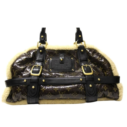 Louis Vuitton Handbag with lamb fur