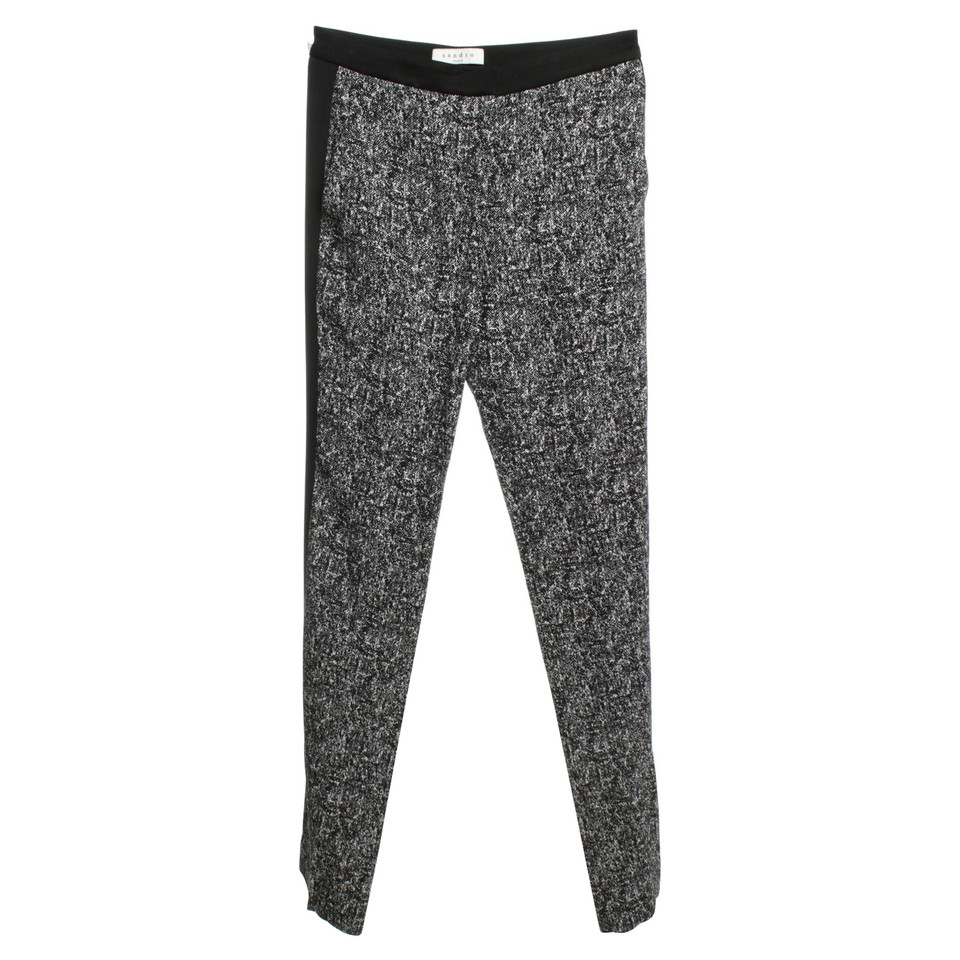 Sandro trousers in black / white