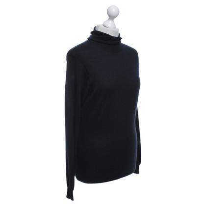 Jil Sander maglione a collo alto in blu