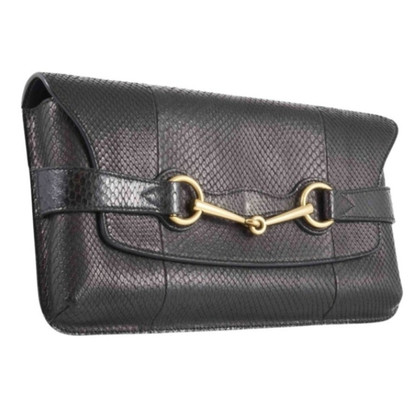 Gucci clutch Python leather