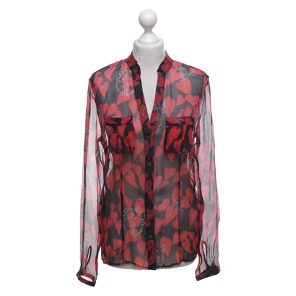 Marc Cain Blouse with heart pattern