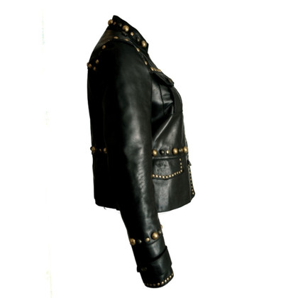 Gucci Leather jacket with gold studs