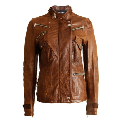 Dolce & Gabbana Leather jacket biker look