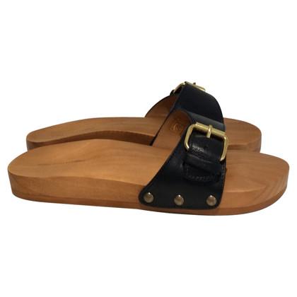 Isabel Marant Etoile houten sandalen