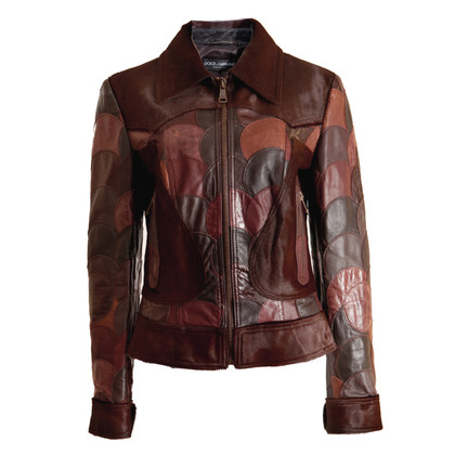Dolce & Gabbana Leather jacket in patchwork style