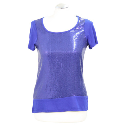 French Connection Sequin top in blue