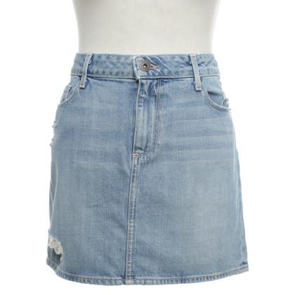 Paige Jeans Jupe en jean en bleu