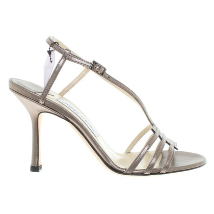 Jimmy Choo Sandaletten in Metallic-Optik