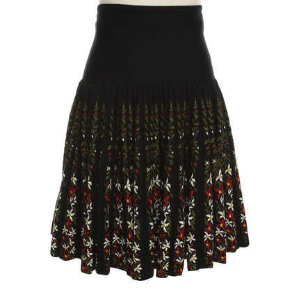 Alaïa Knit-skirt in black