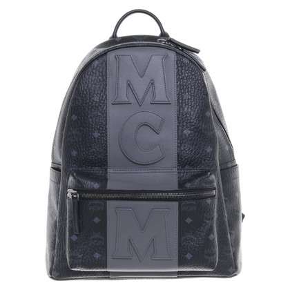 MCM Backpack in Black / grey