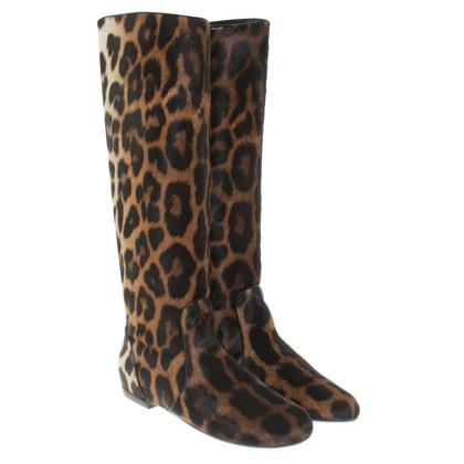 Giuseppe Zanotti Stivali con modello del leopardo