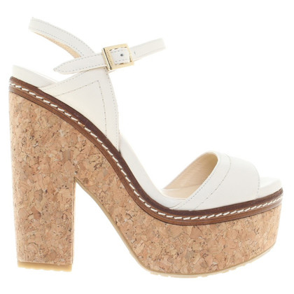Jimmy Choo Sandaletten in Creme