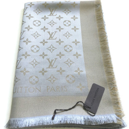 Louis Vuitton Monogramme Shine-tissu beige / or