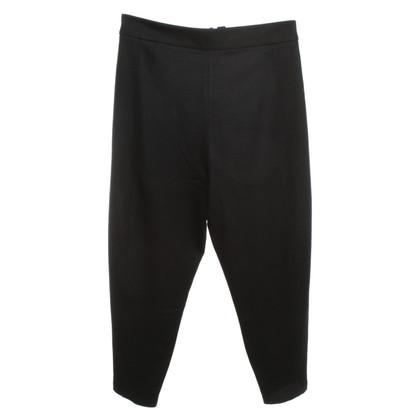 Yohji Yamamoto Wol broek in zwart