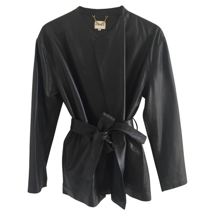 Reiss leather blazer