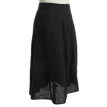 Max Mara Linen skirt in black