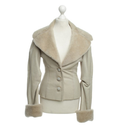 Escada Lambskin jacket in cream