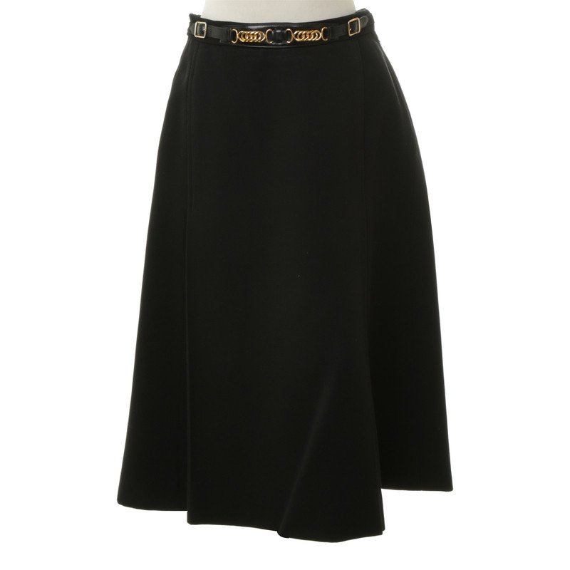 Hermès MIDI-skirt in black