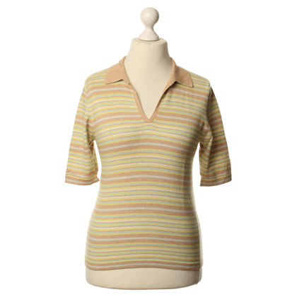 Allude Striped top in multi colored