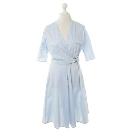 Max Mara Wrap dress in light blue