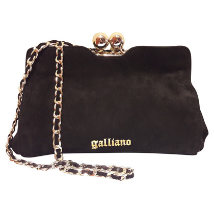 John Galliano borsa in pelle scamosciata