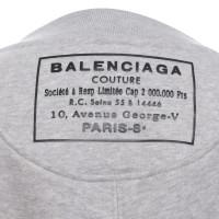 Balenciaga Sweatshirt in mottled light gray