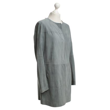 Riani Leren jas in grijs / blauw