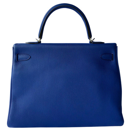 "Hermès ""Kelly Bag 35 Togo Leather Sapphire blue"""