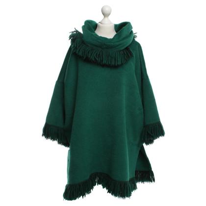 Dolce & Gabbana Poncho in groen