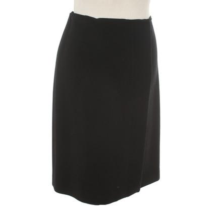 Prada Zwarte rok gemaakt van scheerwol