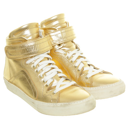 Pierre Hardy Hightop sneakers in gold