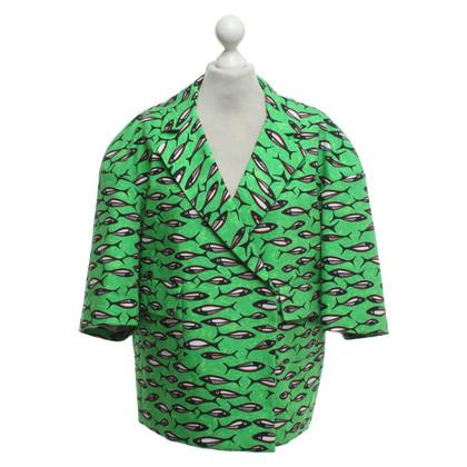 Stella Jean Oversized jacket with fish motifs