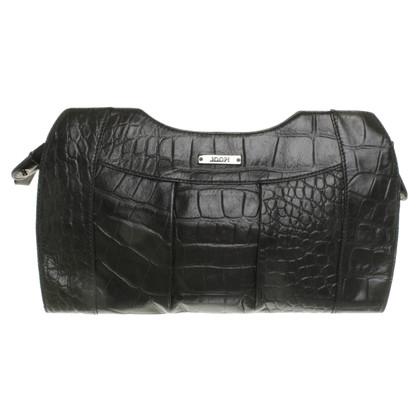 JOOP! clutch embossed leather