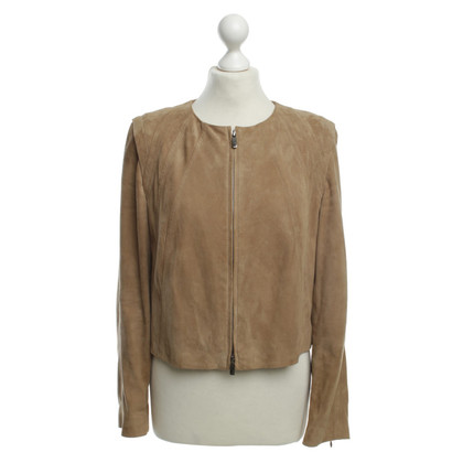 Laurèl Velourslederjacke in Beige