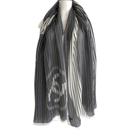 Chanel Cashmere scarf with logo