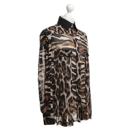Just Cavalli Blouse with leopard print