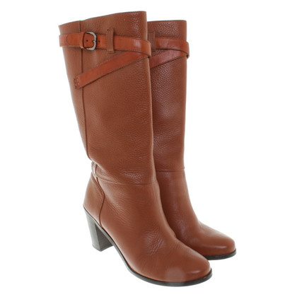 Hugo Boss Leather boots in brown