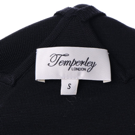 Temperley London Kleid Schwarz in Schwarz Schwarz Temperley Kleid in London 44U6R