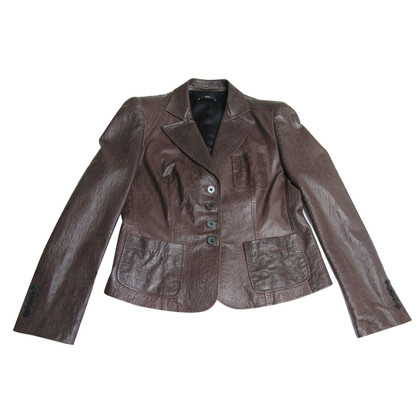 Hugo Boss In pelle di agnello di Hugo Boss marrone Blazer