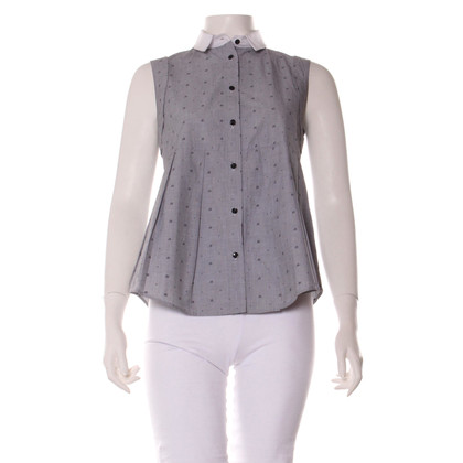 Claudie Pierlot Sleeveless blouse with pattern